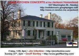 JIM PLAYS SOLO SHOW FRIDAY NIGHT AT NEWTON039S HISTORIC JACKSON HOMESTEAD