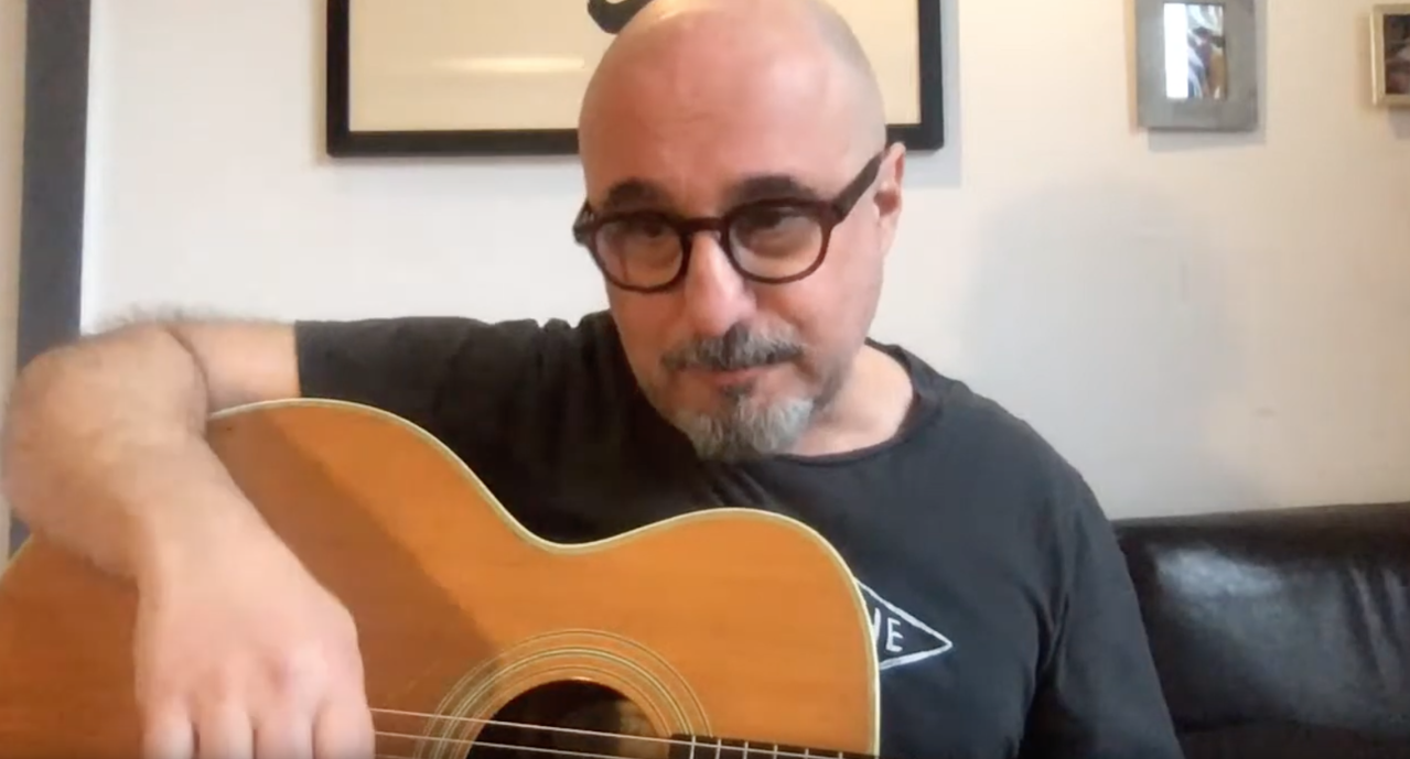 Jim Infantino on a live cam YouTube concert
