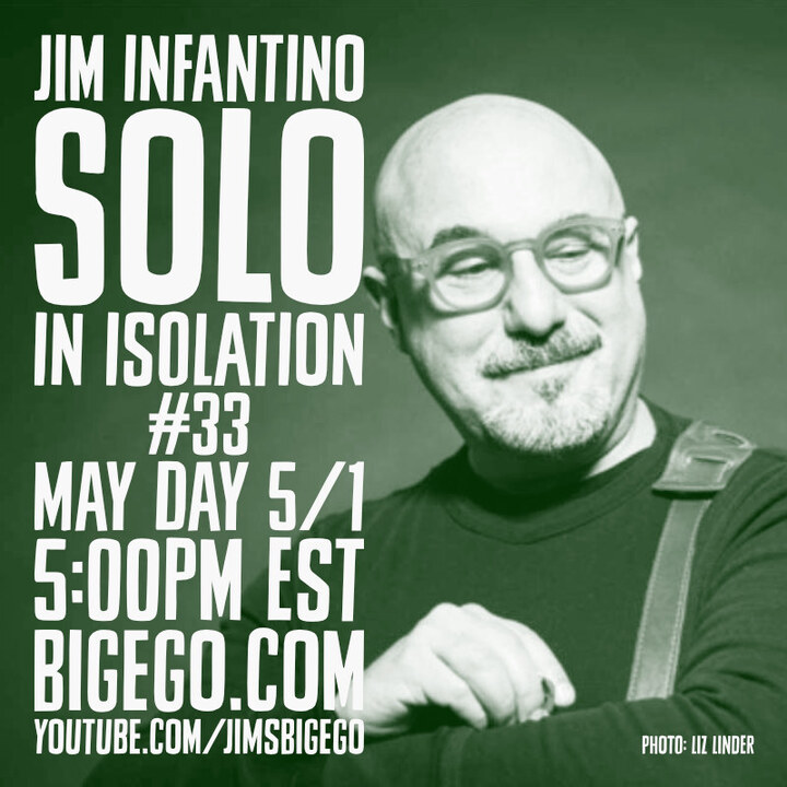 Jim Infantino in green ad for Solo In Isolation Show