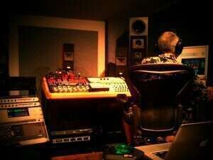 br in studio with Jonathan Wyner mastering new album of stuff